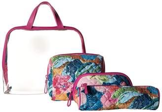 Vera Bradley Iconic Four-Piece Cosmetic Set Cosmetic Case