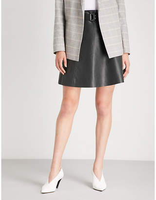 BA&SH Belted leather skirt