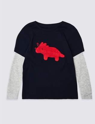 Marks and Spencer Pure Cotton Mock Top (3 Months - 7 Years)