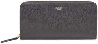 Mulberry Logo Print Zip Around Wallet