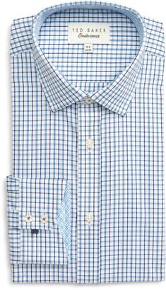 Ted Baker Endurance Whaele Extra Slim Fit Check Dress Shirt