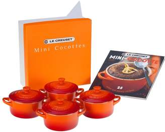 Le Creuset (ル クルーゼ) - Le Creuset Four Mini Cocottes with Cookbook