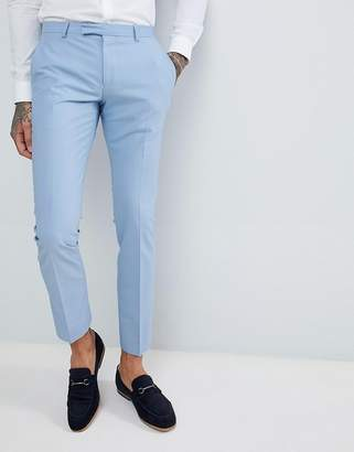 Twisted Tailor wedding super skinny suit pants in light blue