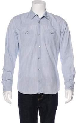 Fendi Plaid Button-Up Shirt