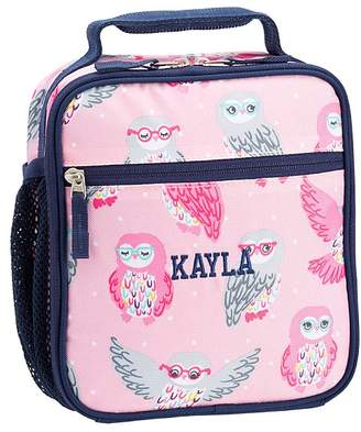 Pottery Barn Kids Classic Lunch Bag, Mackenzie Navy Pink Owls