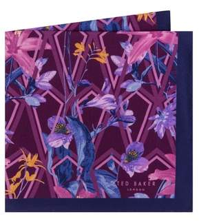 Ted Baker Floral Silk Pocket Square