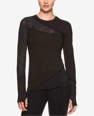 Gaiam by Jessica Biel Mesh-Detail Long-Sleeve Top
