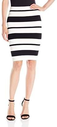 BCBGMAXAZRIA Women's Elizabeth Striped Bodycon Skirt