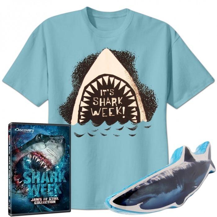 Discovery Shark Week DVD & Kid's T-Shirt Set