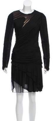 J. Mendel Ruched Cocktail Dress