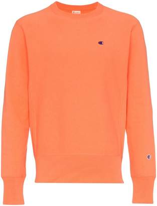 Champion orange reverse weave sweatshirt