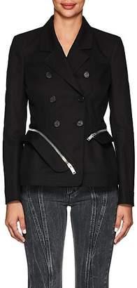 Altuzarra Women's Zip-Around Cotton Slim Double-Breasted Jacket - Black