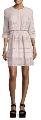 Rebecca Taylor Adeline Embroidered Eyelet Dress $495 thestylecure.com