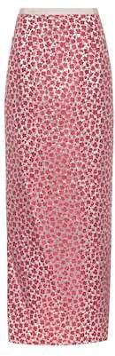 Oscar de la Renta Floral jacquard skirt