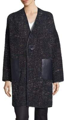 Lafayette 148 New York Katya Reversible Galaxy Boucle Coat