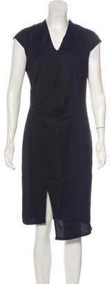 Helmut Lang Cap Sleeve Midi Dress