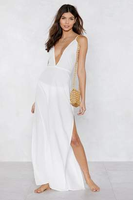 Nasty Gal Beaches Rule Maxi Cover-Up Dress