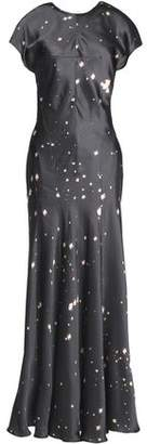 Alexander Wang Printed Satin Maxi Dress