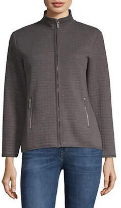 Karen Scott Petite Petite Quilted Fleece Jacket