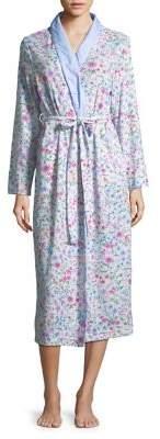 Miss Elaine Floral Shawl Collar Robe