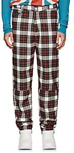 LANDLORD Men's Plaid Wool Trousers - White