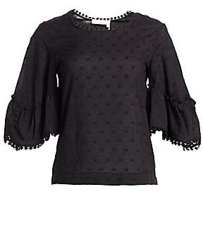 See by Chloe Women's Embroidered Cotton Blouse
