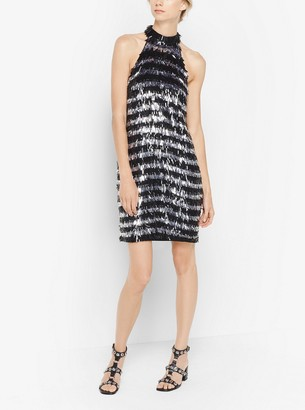 Michael Kors Fringed Sequined Dress