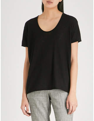 Theory Scoop-neck cashmere T-shirt