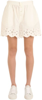Tommy Hilfiger (トミー ヒルフィガー) - Tommy Hilfiger Collection Cotton Eyelet Shorts