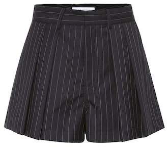 Matthew Adams Dolan Striped wool shorts