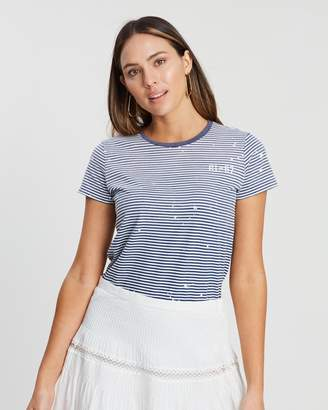 Polo Ralph Lauren Striped Print No-Fit SS Knit Tee