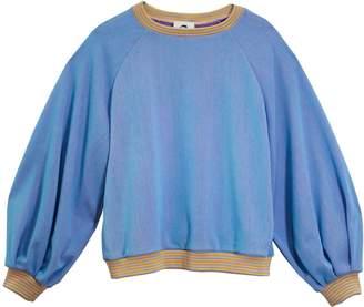 Lobo Mau Puff Sleeve Raglan Sweatshirt