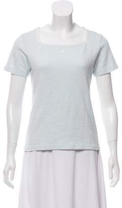 Courreges Short Sleeve Casual Top