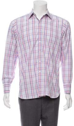 Turnbull & Asser Plaid Dress Shirt