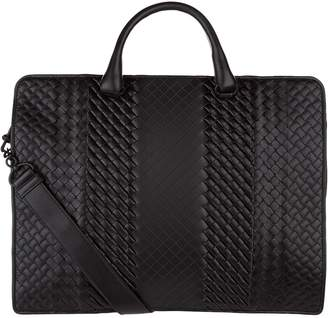 Bottega Veneta Leather Intrecciato Imperatore Briefcase