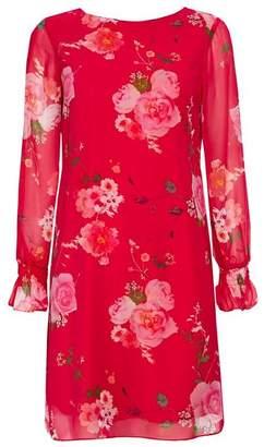 Wallis Petite Pink Floral Print Shift Dress