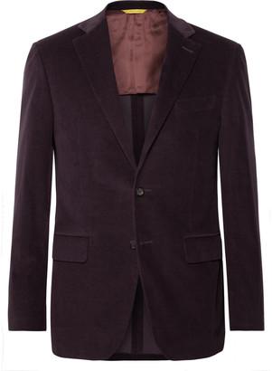 Canali Black Kei Slim-Fit Cotton-Blend Corduroy Suit Jacket