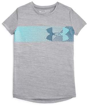 Under Armour Girls' HeatGear Big Logo Tee - Big Kid