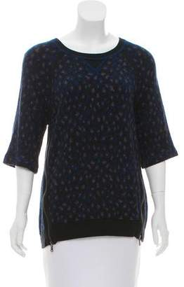 Marc by Marc Jacobs Zip-Accented Jacquard Sweater