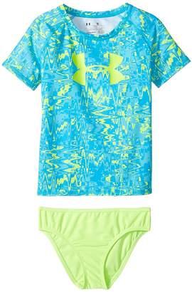 Under Armour Kids Pop Dazz Rashguard Set Girl's Swimwear Sets