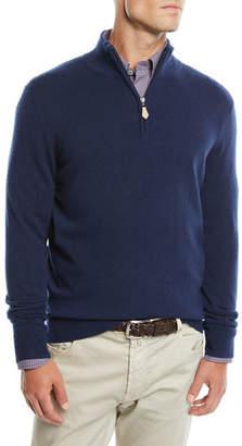 Neiman Marcus Men's Cashmere Half-Zip Sweater