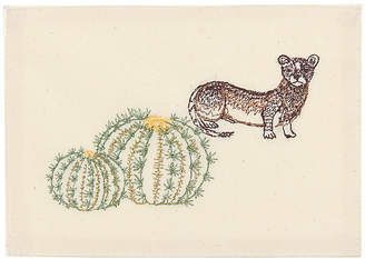 Coral & Tusk Weasel & Barrel Cactus Acrylic Box Note Card