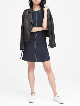 Banana Republic Petite Paneled Fit-and-Flare Dress