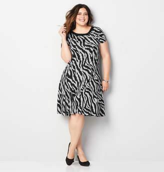 Avenue Zebra Fit and Flare Dress