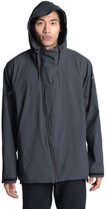 Isaora Men's Asymmetric-Zip Hooded Jacket