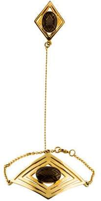 House of Harlow 1960 Ring & Hand Chain Bracelet Gold House of Harlow 1960 Ring & Hand Chain Bracelet