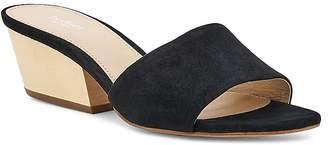 Botkier Women's Carlie Suede Mid Heel Slide Sandals