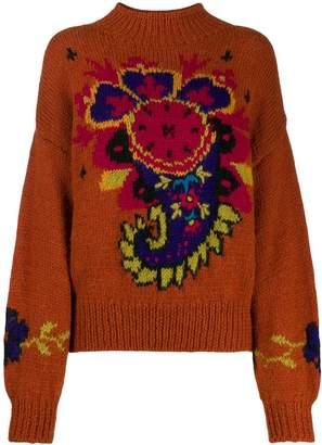 Byblos A.N.G.E.L.O. Vintage Cult 1980s Byblos' paisley intarsia jumper