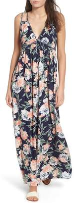 Band of Gypsies Floral Strappy Maxi Dress