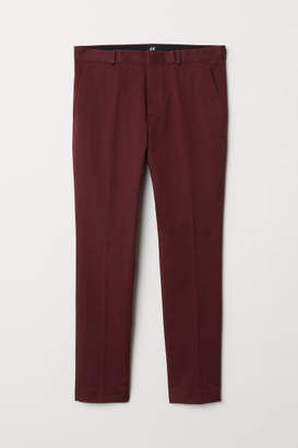 H&M Skinny Fit Cotton Chinos - Red